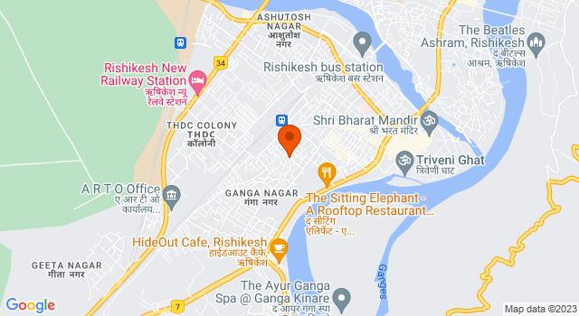 Aerial view of Rishikesh