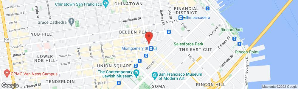Map of the law firm Rouda Feder Tietjen & McGuinn