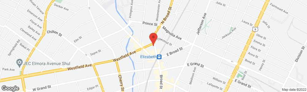 Map of the law firm Eisdorfer Eisdorfer & Eisdorfer, LLC