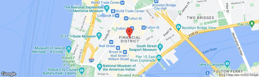 Map of the law firm Fitapelli & Schaffer, LLP