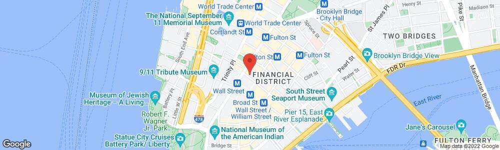 Map of the law firm Pitta LLP