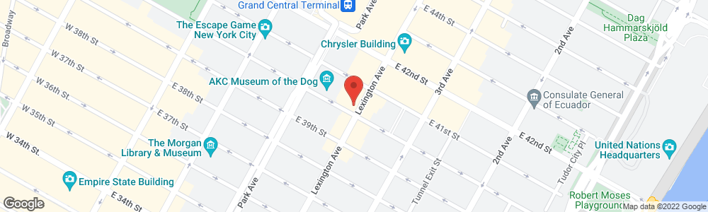 Map of the law firm Ganfer & Shore, LLP