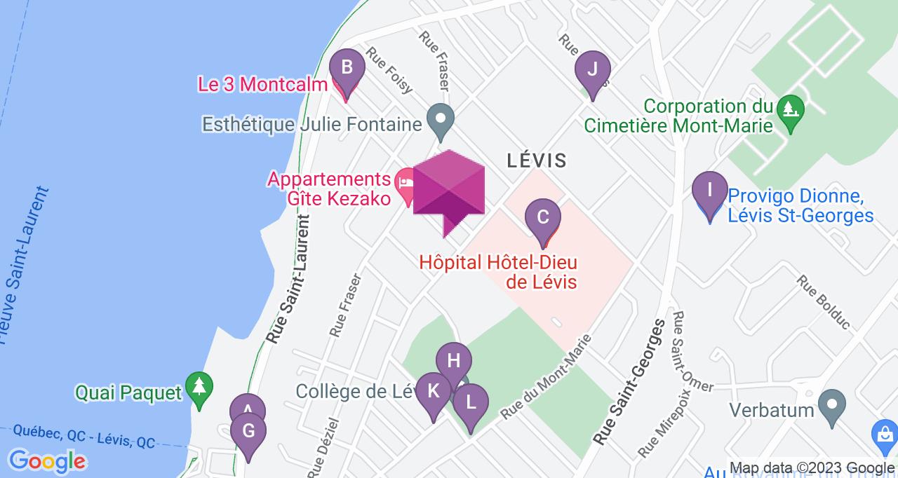 Marronniers, Lévis