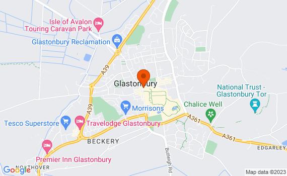 Aerial view of Glastonbury