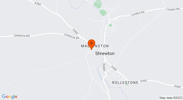 Aerial view of Barn at Maddington Farm, Shrewton
