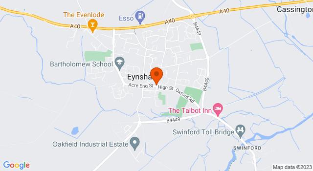 Aerial view of Greenleigh Butchers, Eynsham