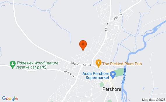 Aerial view of Pershore