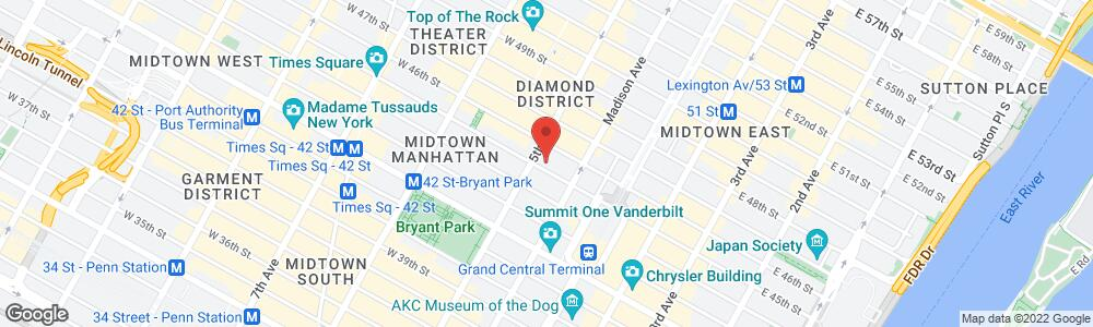 Map of the law firm Sadis & Goldberg LLP