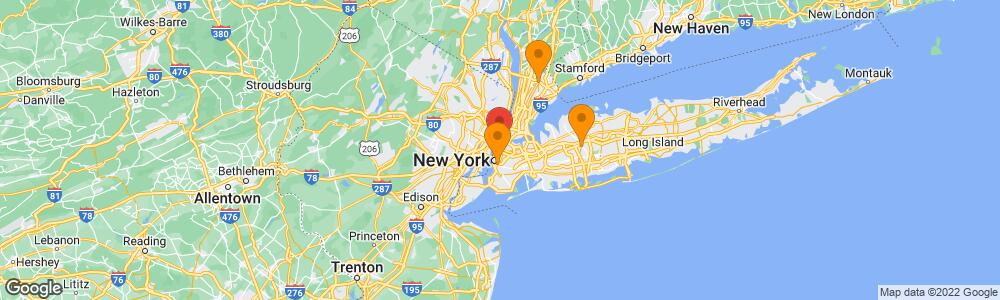 Map of the law firm Pasternack Tilker Ziegler Walsh Stanton & Romano LLP