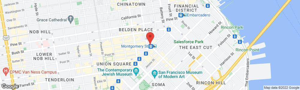 Map of the law firm Ad Astra Law Group, LLP