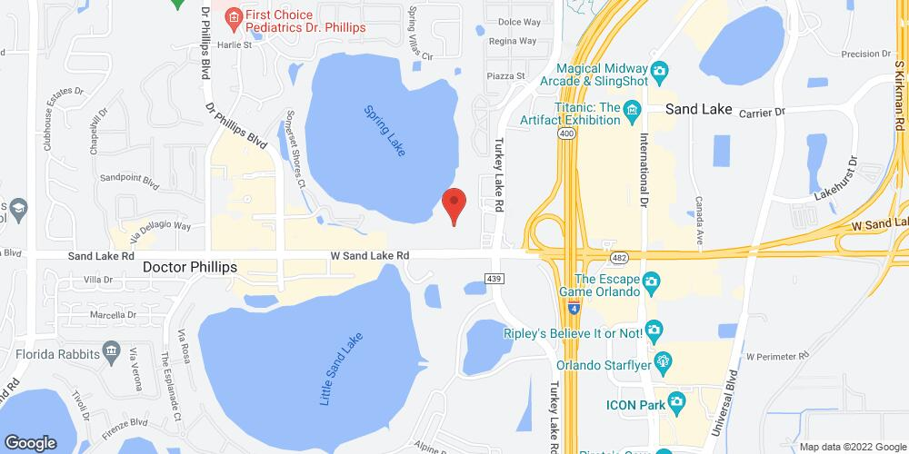 Map of the law firm Dan Newlin Injury Attorneys
