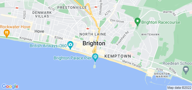 Map of Brighton