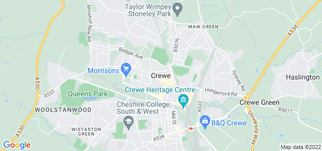 Map of Crewe