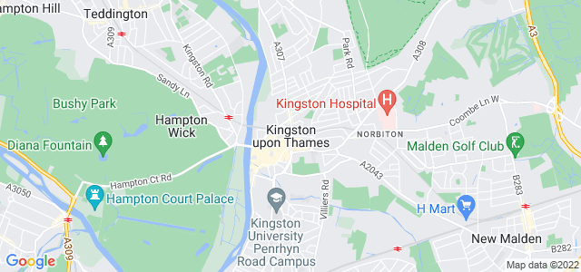 Map of Kingston upon Thames