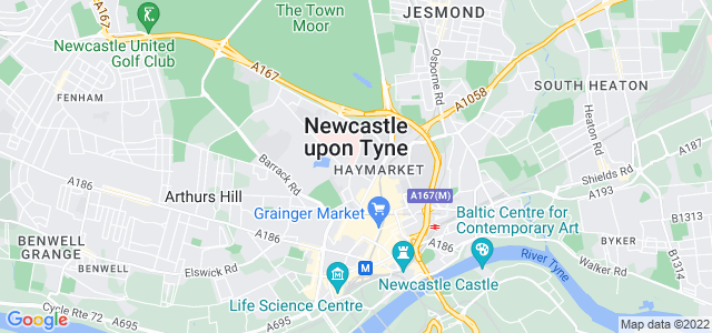 Map of Newcastle