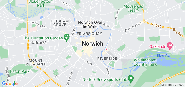 Map of Norwich