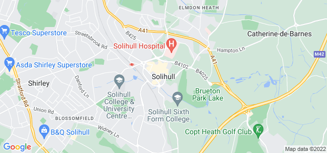 Map of Solihull