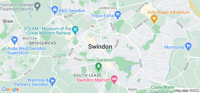 Map of Swindon