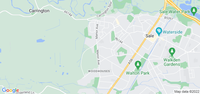 Map of Trafford