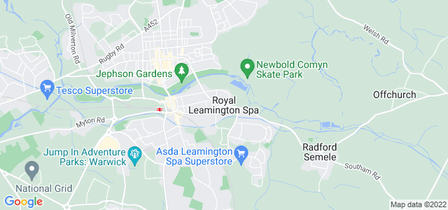 Map of Warwick & Leamington Spa