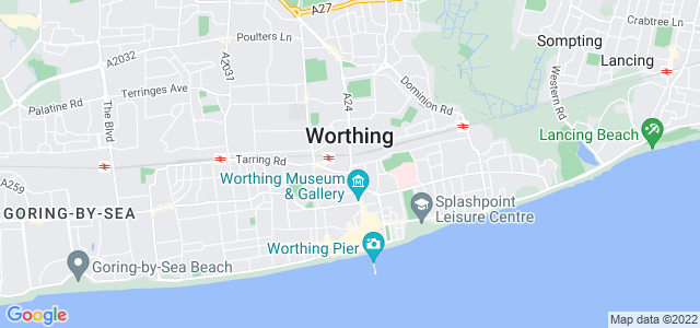 Map of Worthing