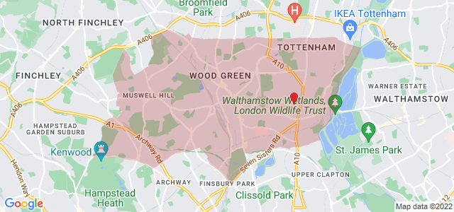 Map of Haringey