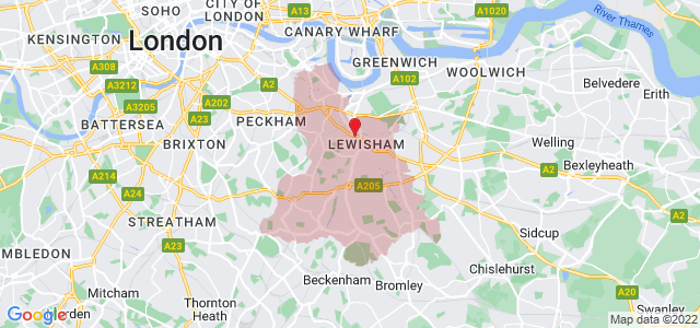 Map of Lewisham