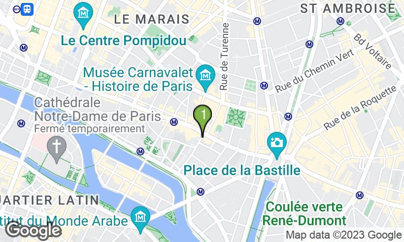 carte de localisation du commerce - Artiste Coiffeur Coloriste