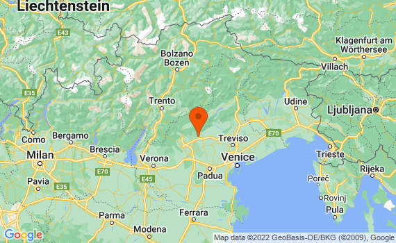 Aerial view of Veneto