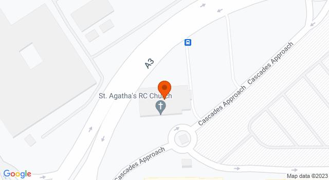 Aerial view of Church of St Agatha