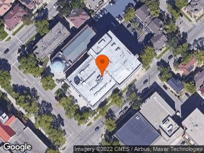 Aerial view of Madison Masonic Temple