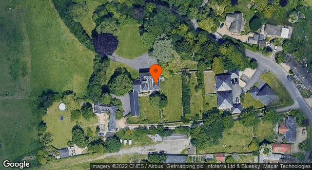 Aerial view of Durrington Manor House