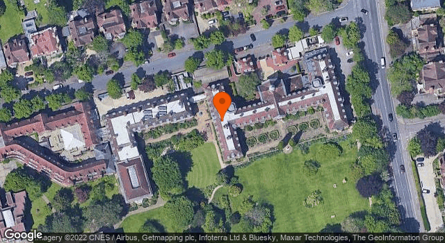 Aerial view of St Hugh's College Lodges and Gates