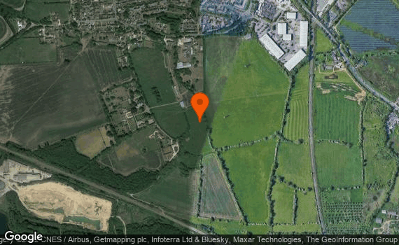 Aerial view of Yarnton