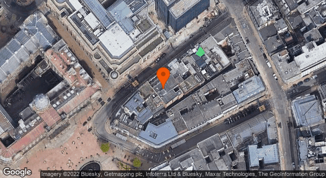 Aerial view of 118 and 120, Colmore Row B3