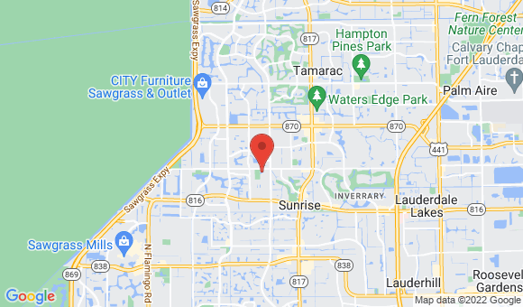 street map for Advocate Home Care South Fort Lauderdale - Lauderhill, FL