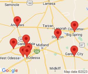 US Post Office near Midland, TX