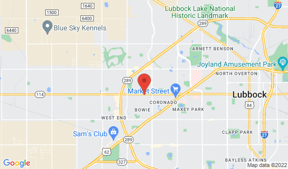 street map for Serendipity Suites - Lubbock, TX