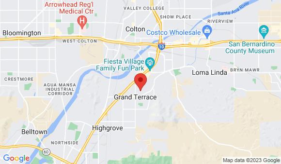 street map for Rose Villa - Grand Terrace - Grand Terrace, CA