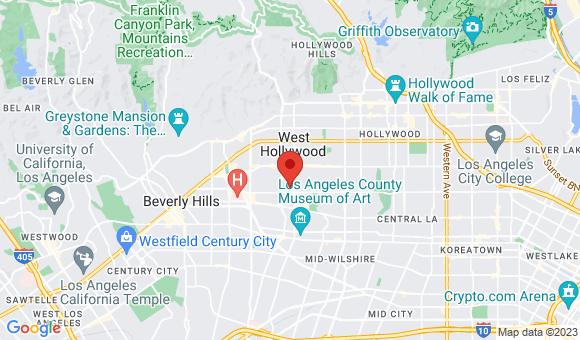 street map for Hayworth Terrace Retirement - Los Angeles, CA