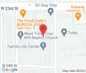 West Tulsa Free Will Baptist Church at Tulsa, OK 74107