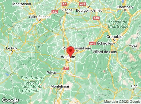 CASTORAMA St Marcel Les Valence map
