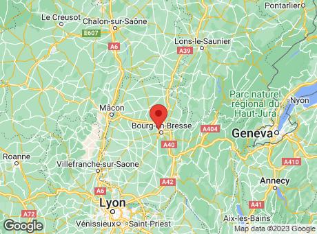 CASTORAMA Bourg-en-Bresse map