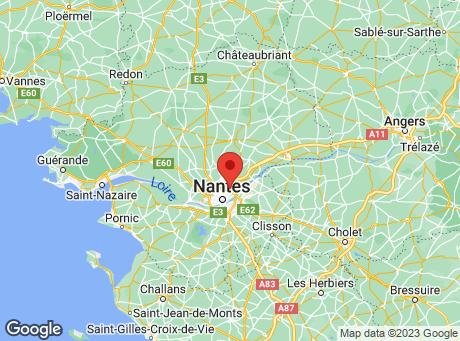 CASTORAMA Nantes La Beaujoire map