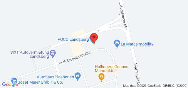 Karte zum POCO Einrichtungsmarkt Landsberg nicht verfügbar