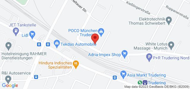 Karte zum POCO Einrichtungsmarkt München-Trudering nicht verfügbar