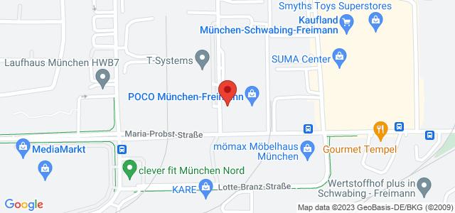 Karte zum POCO Einrichtungsmarkt München-Freimann nicht verfügbar