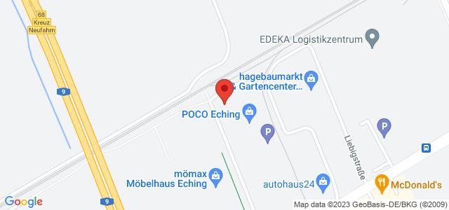Karte zum POCO Einrichtungsmarkt Eching nicht verfügbar