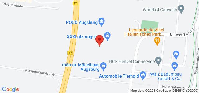 Karte zum POCO Einrichtungsmarkt Augsburg nicht verfügbar