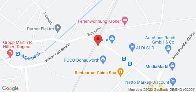 Karte zum POCO Einrichtungsmarkt Donauwörth nicht verfügbar